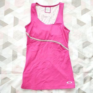 Oakley Activewear Tank Top Racer Back Built In Bra